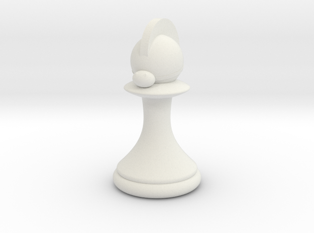 Pawns with Hats - Knight in White Strong & Flexible: Small