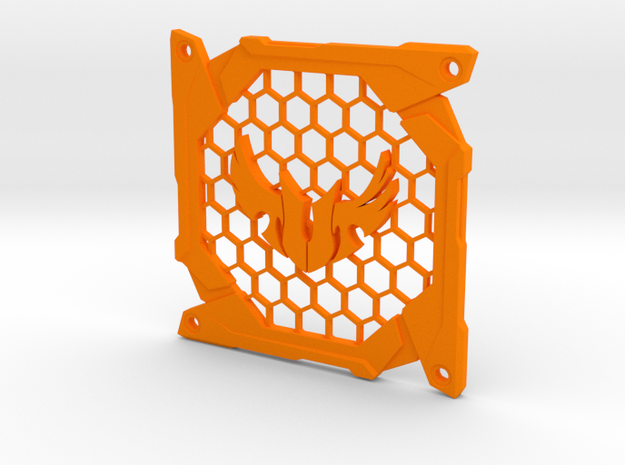 Fan grill (TUF) in Orange Processed Versatile Plastic