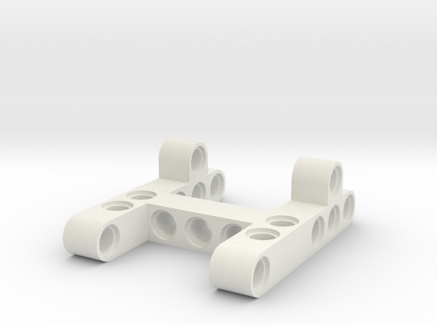 Differential frame 5x7x2x studs in White Natural Versatile Plastic
