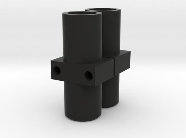 Axle Tube Ends in Black Natural Versatile Plastic