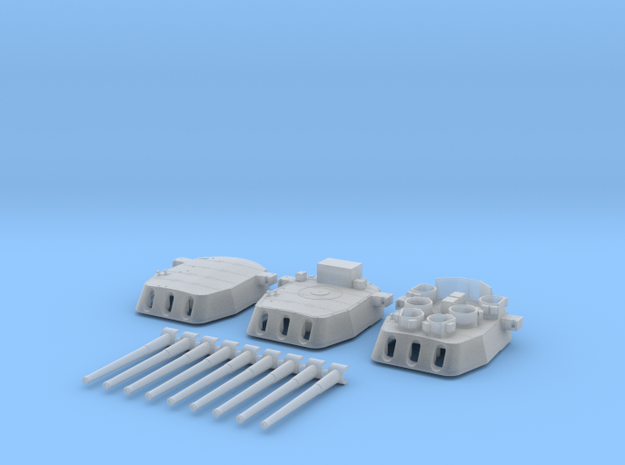 "1/600 16""/45 MKI HMS Nelson Turrets 1945 in Smooth Fine Detail Plastic"