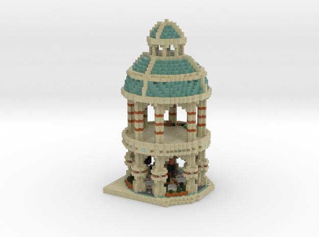 Desert Temple in Full Color Sandstone