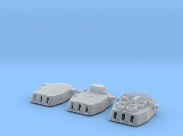 """1/200 16""""/45 MKI HMS Nelson Turrets Only 1945 in Smooth Fine Detail Plastic"""