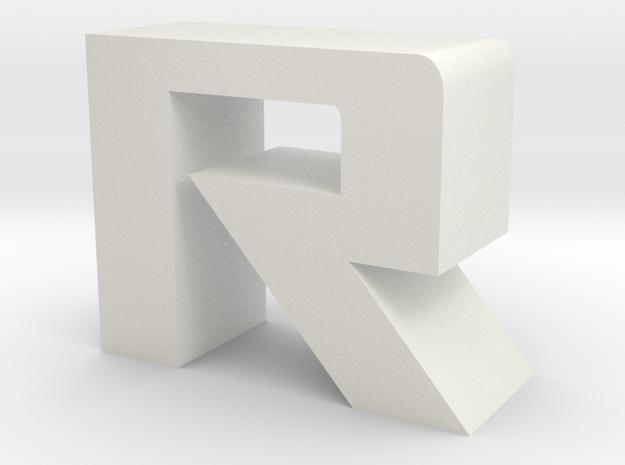ROG font - R in White Natural Versatile Plastic