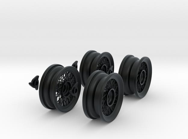 Classic spoke wheels 1/8 1:8 For Classic cars. car