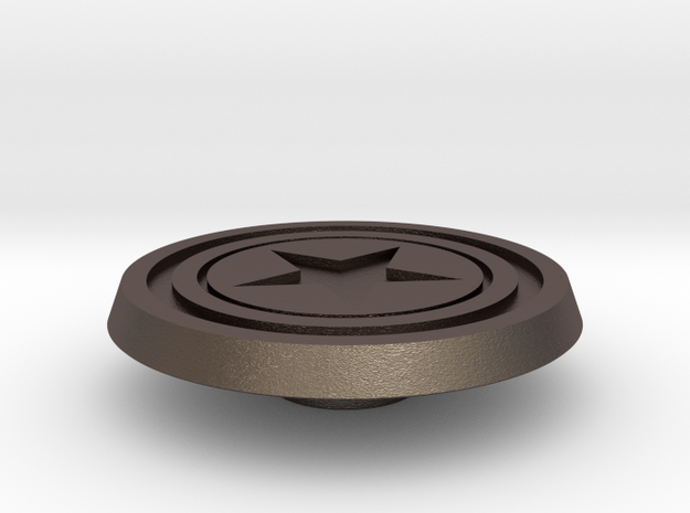 CPT America Shield Button in Stainless Steel