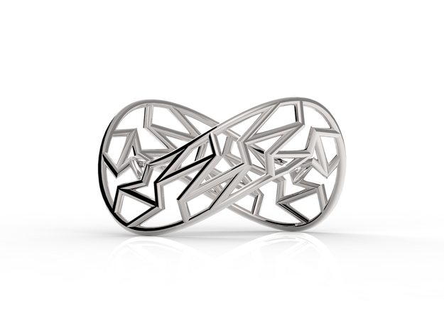 Infinity Frame Ring in Fine Detail Polished Silver