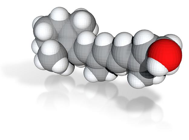 Vitamin a molecule (x40,000,000, 1A = 4mm) 3d printed