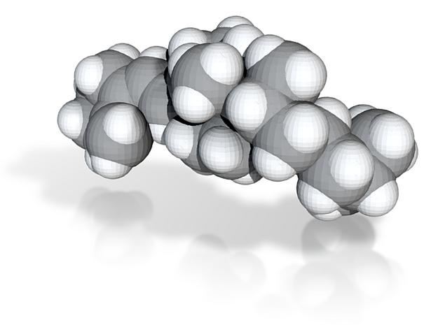 Vitamin d molecule (x40,000,000, 1A = 4mm) 3d printed