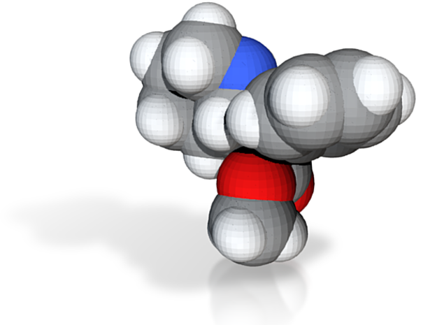 Ritalin molecule (x40,000,000, 1A = 4mm) 3d printed