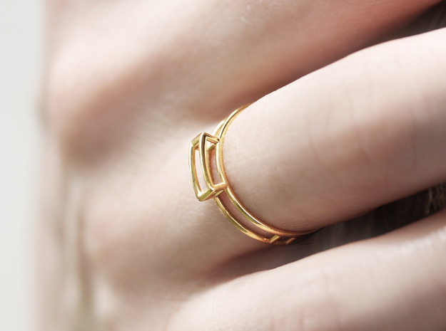 GEM Ring in 18k Gold Plated