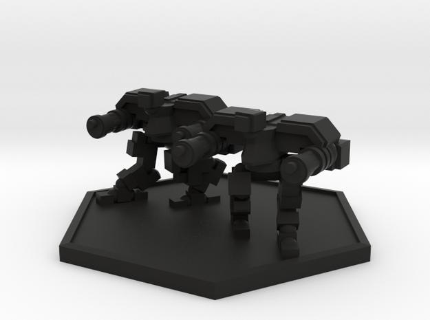 Colour Imperial Reaper Bot Team (Hex) in Black Natural Versatile Plastic