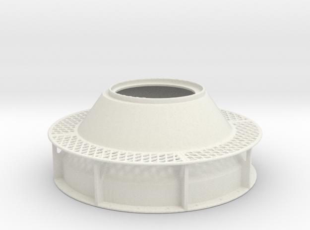 DShK Dual Open Turret 1-35 Base in White Natural Versatile Plastic