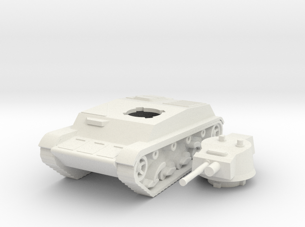 Polish 9TP prototype tank WW2  in White Natural Versatile Plastic