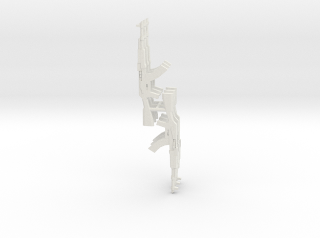 6x AK GUNPOD 1/285 in White Natural Versatile Plastic