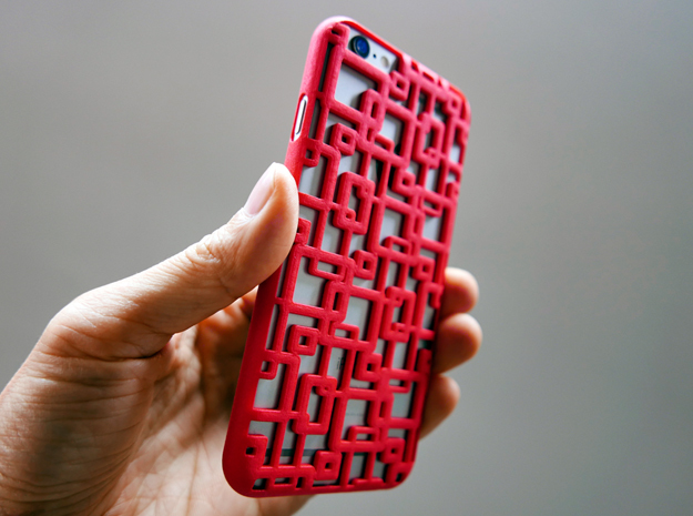 iPhone 6 plus / 6S plus Case_Connection in Red Strong & Flexible Polished