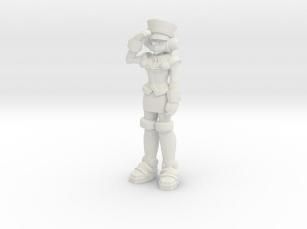 T-Ai, salute (RiD2000) 35mm Mini in White Natural Versatile Plastic