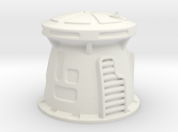 6mm Scale Sci-Fi WatchTower in White Natural Versatile Plastic