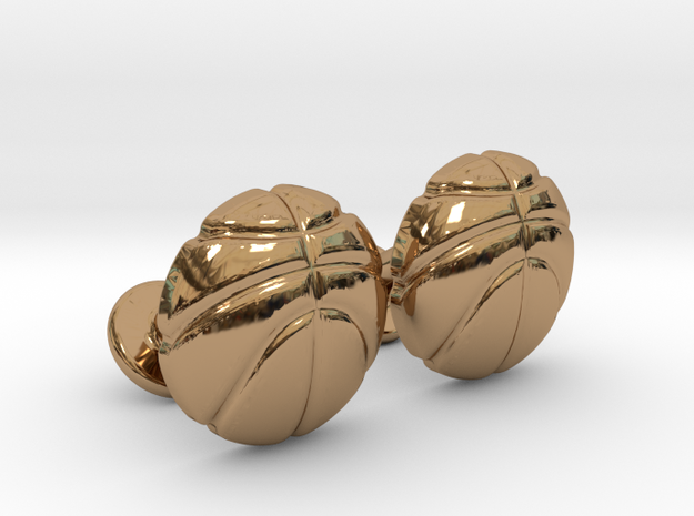 Basketball CuffLinks in Polished Brass