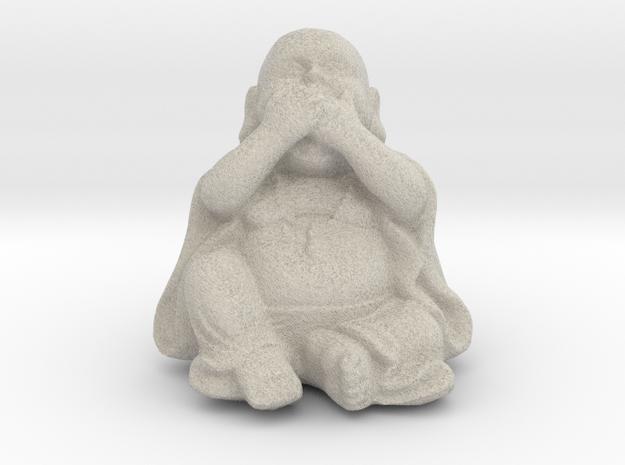BuddhaSpeakNoEvil in Natural Sandstone