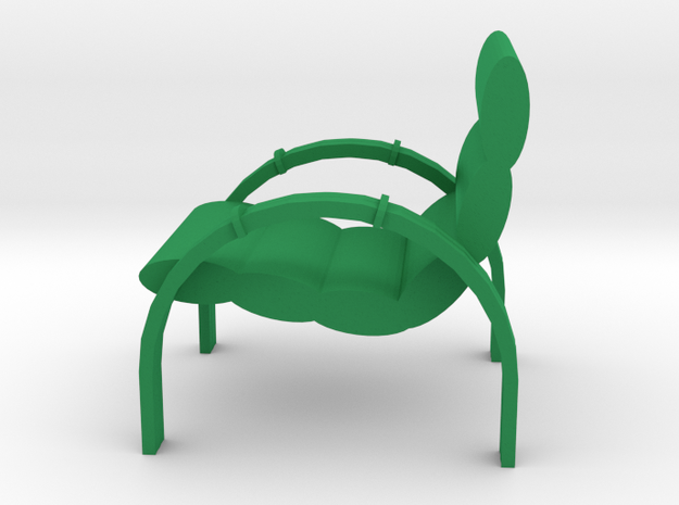 Lawn Chair for the Patio, Retro Style in Green Strong & Flexible Polished