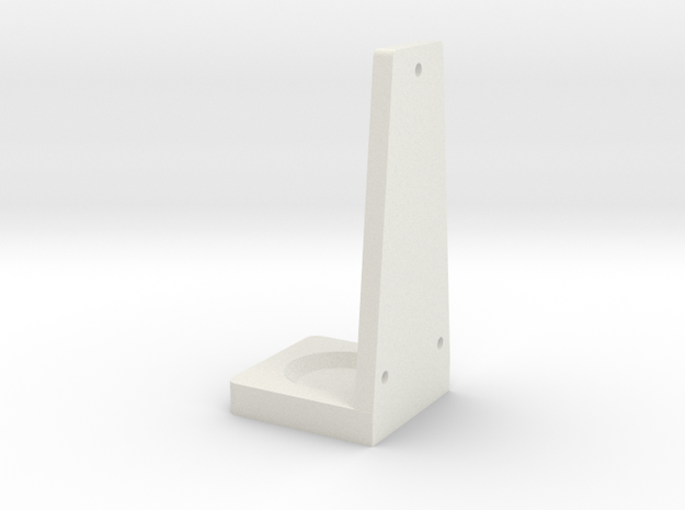Wall Mounted Lightsaber Stand-Bottom in White Natural Versatile Plastic