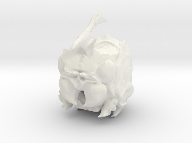 Angry Bug Cube in White Natural Versatile Plastic