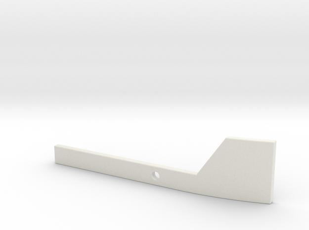 Racal Head Set Left Arm Round in White Natural Versatile Plastic