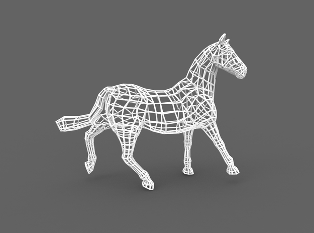 2014 Year of the Horse- Nylon (Medium) in White Natural Versatile Plastic