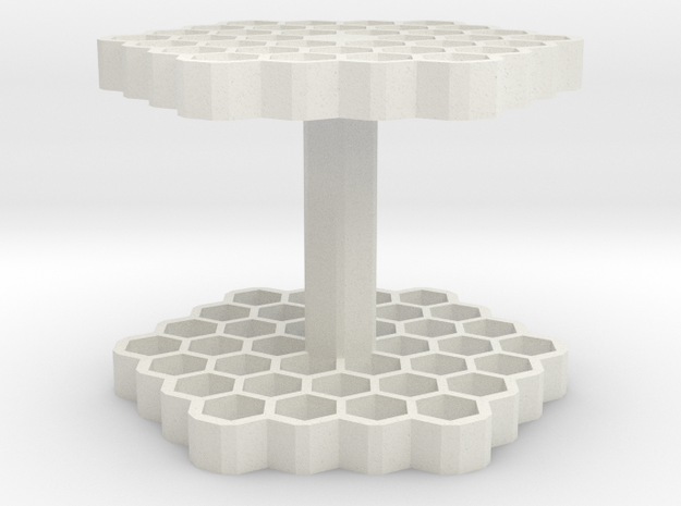Hex Pencil Holder in White Strong & Flexible