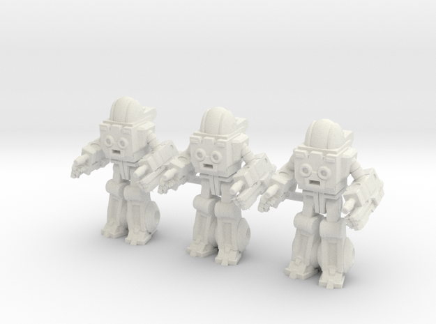 Autobot Exosuit Squad of 3, 35mm miniatures in White Strong & Flexible