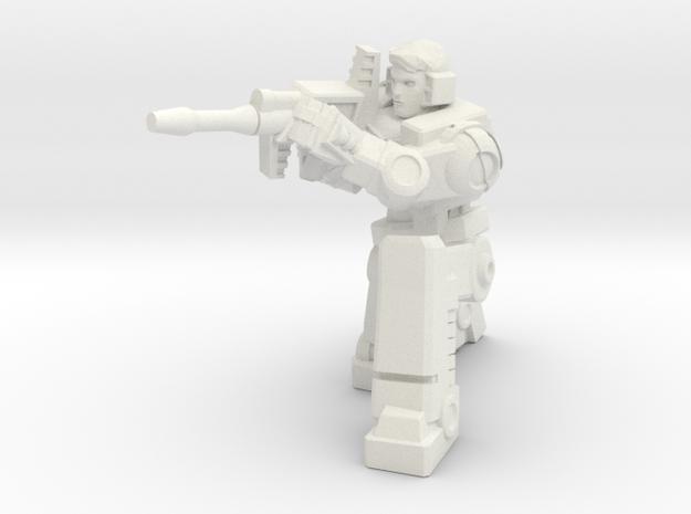 Diaclone Sharpshooter, 5mm Mini in White Natural Versatile Plastic