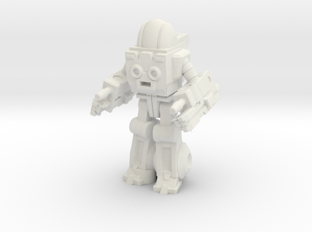 Autobot Exosuit, 35mm miniature in White Strong & Flexible