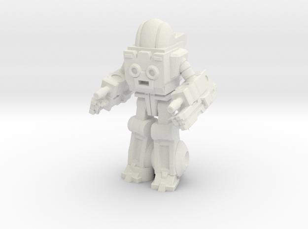 Autobot Exosuit, 35mm miniature in White Natural Versatile Plastic