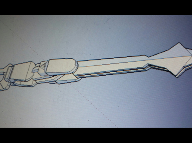 Voltron Sword Handle in White Strong & Flexible