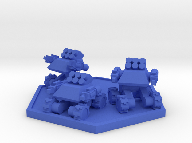 Colour Rim Bastion Infantry Support Drone Team in Blue Strong & Flexible Polished