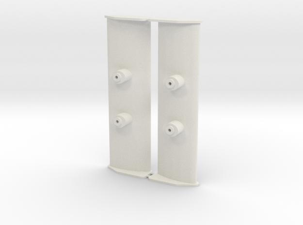 Aileron Mosler MiniZ 2pc in White Natural Versatile Plastic