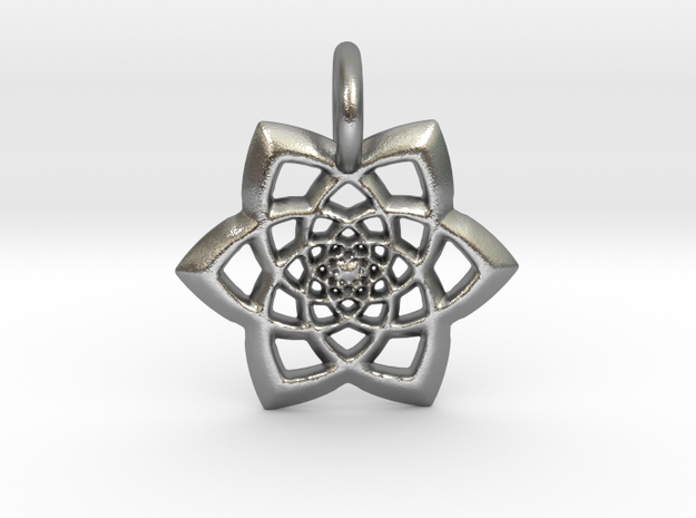 Spectacular Pendant in Natural Silver