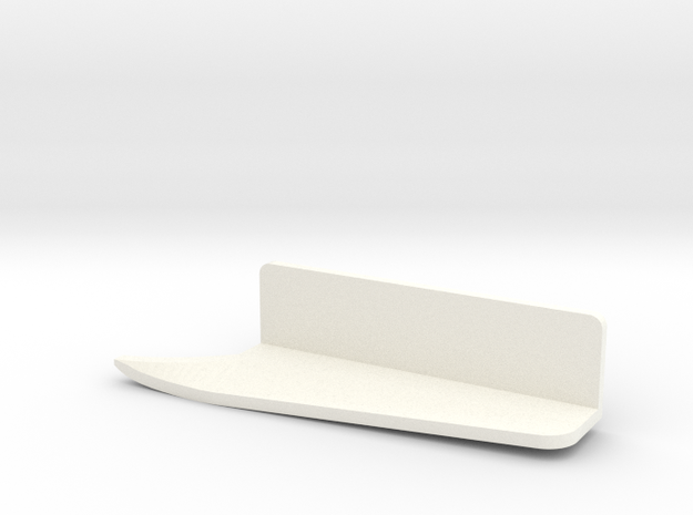 Fender flap rear left outside Startech D110 Team R in White Processed Versatile Plastic