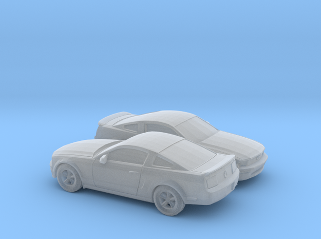 1/148 2X  2007 Ford Mustang Stock Version in Smooth Fine Detail Plastic