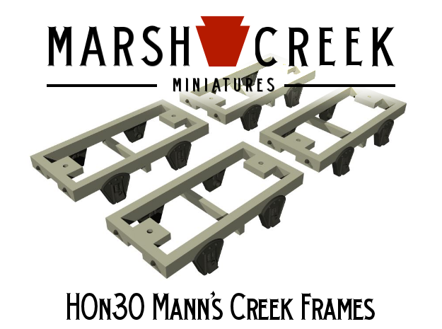 HOn30 Mann's Creek Frames (4) in Frosted Extreme Detail