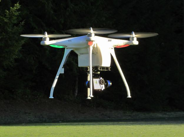 UltraLight 20cm Landing Gear 3d printed The UltraLight 20cm Landing Gear shown integrated with the Fuselage Upgrade Kit.