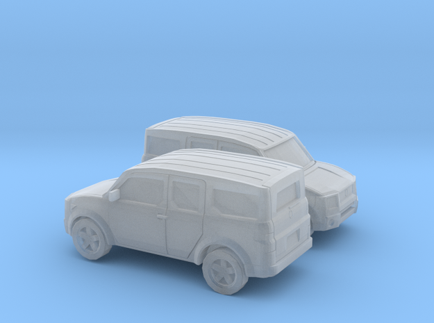 1/200 2X 2002-07 Honda Element in Smooth Fine Detail Plastic