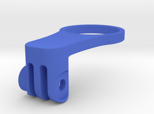 5 mm Headset Spacer Mid-length GoPro Mount in Blue Processed Versatile Plastic