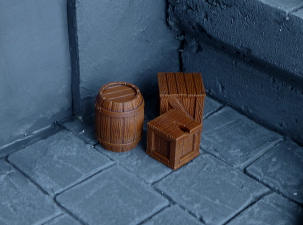 Miniature Crates in Frosted Ultra Detail