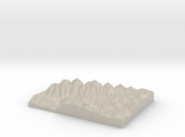 Model of Schönbergspitze in Natural Sandstone