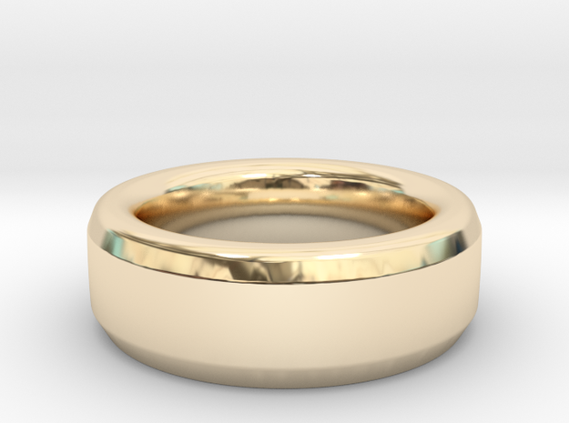 Simple Ring in 14k Gold Plated Brass: 9 / 59