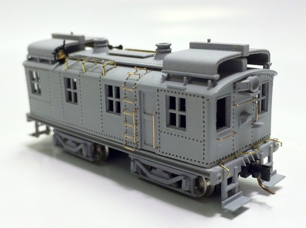 CNJ 1000 For Bachmann 44 Ton Switcher Frame in Frosted Extreme Detail