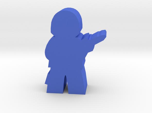 Game Piece, Rebel League Trooper, Standing in Blue Processed Versatile Plastic