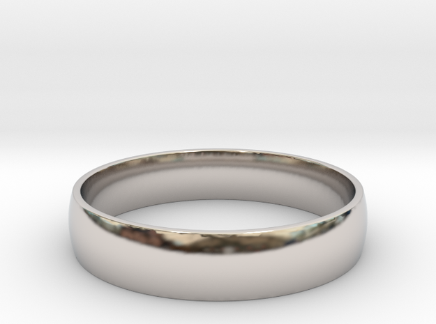 Customizable Ring in Rhodium Plated Brass: 6 / 51.5